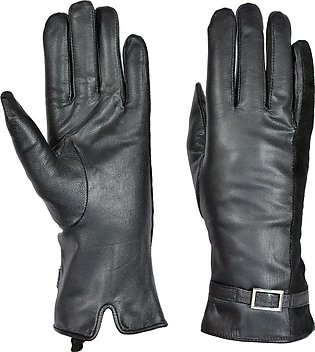 Luxurious Women Girl Leather Winter Super Warm Gloves New Fashion One Size