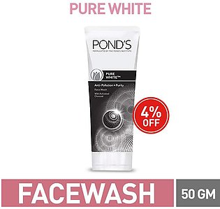 4% off PONDS PURE WHITE FACE WASH 50G