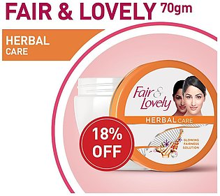 18% OFF ON FAIR AND LOVELY HERBAL CARE 70ML