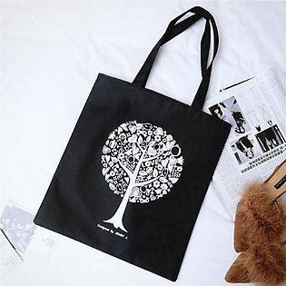 Leisure Durable Women Student Canvas Single Small Handbag Canvas Shopping Bags