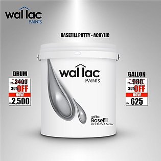 Wallac Paints Basefill Putty - Acrylic based - Drum Size (14.56 Liter)