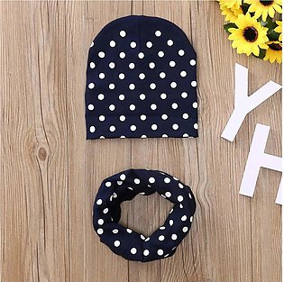 Toddler Baby Autumn Winter Hat Cap Circle Prints Hats Kids Scarf Collars Outfit