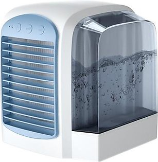 Usb Portable Air Conditioner Humidifier Air Purifier Air Cooler Mini Fans Personal Space Air Conditioner Device-Blue+ Gray