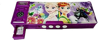 Double Sided Sharpener Pattern with Password Number Lock (Frozen Sofia) Art Pla…