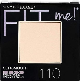 Maybelline New York Fit Me Set + Smooth Powder Makeup, Porcelain 110
