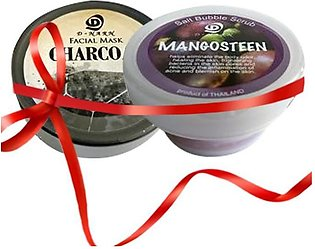 Save Rs.725-  Bundle of Mangosteen Salt body scrub and Charcoal Facial Mask