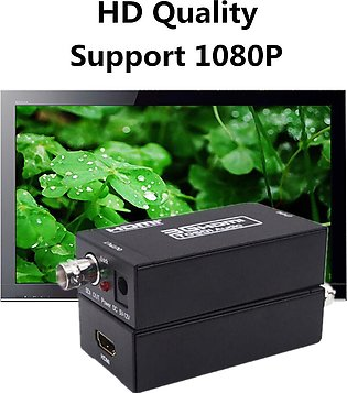 1080P HDMI To SDI 3G HD Video Converter Adapter Coaxial Cables 500mA Metal 10...