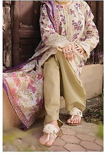 Almirah Summer Collection Vol: 03 LAWN Off White Ladies 03 PC Stitched Suit for Women