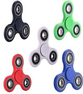 Pack of 5 - Fidget Spinners Stress Reducer Toy - Multicolor