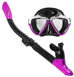 Lixada Snorkeling Mask Snorkel Set Anti-fog Swimming Diving Goggles with Easy Breath Dry Snorkel Tube