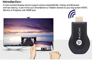 AnyCast M4 Plus Wireless WiFi Display Dongle Receiver 1080P HDMI Media Video ...