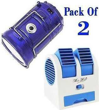 2 In 1 Deal - Mini Cooler Fan & Mini Rechargeable Fan