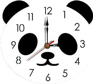 EF Creative Cartoon Wall Clock Acrylic Clock Panda Cute Simple Home Wall Clock
