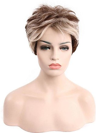 Oblique Bangs Short Straight Hair Natural Fiber Wigs Straight Synthetic Hair