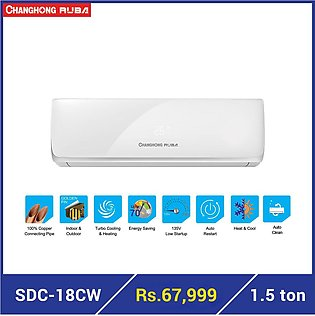 Changhong Ruba SDC-18CW - 1.5 Ton (Cool Only) DC inverter Air Conditioner