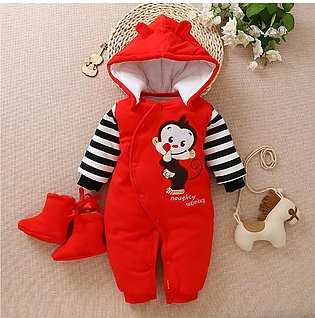 ✫Good Quality✫ Newborn Infant Baby Boy Hooded Warm Cartoon Coat Outwear Jumpsui…
