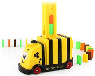 Classic Domino Plastic Train Toy Children Assembled Toy Domino Game Birthday ...