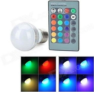 LED Bulb With Remote Control -