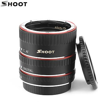 SHOOT XT-364 Auto Focus AF Macro Extension Tube Adapter Ring Set 13mm 21m 31mm …