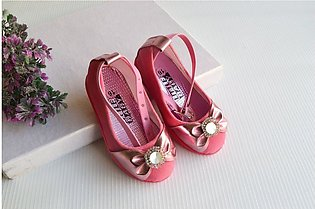 New Pink Stylish Shining Sandals For baby Girl By Hotzzz