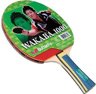 Table Tennis Racket - Butterfly Wakaba 1000 - Red & Black