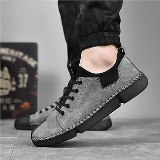 Men Casual Leather Shoes Outdoor Lazy Shoes British Style Tool Men Shoes