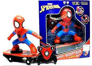 1:18 R/C Spiderman Scooter Hoverboard Marvel Action Figure with Lights