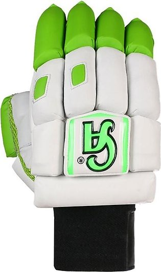 Official CA Cricket Batting Gloves - Sm-18 - White & Green