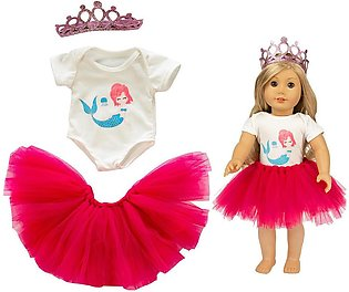 Rainbowroom 2019 Cute Tutu Skirt Clothes Coat Girl Toy For 18 inch Doll Acces...