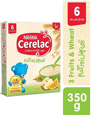 Nestle Cerelac 3 Fruits 350G - Baby Food