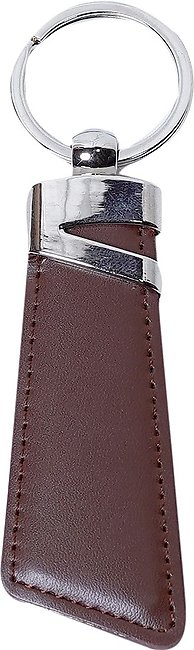 Customized Genuine Leather KeyChain for Men - Brown