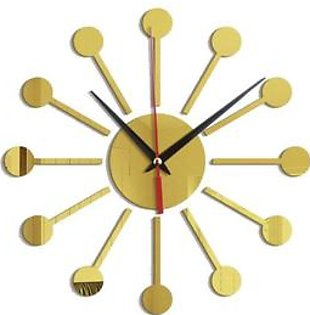 acrylic Wall Clock Creative pendulum shape acrylic mirror wall clock