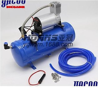 150psi 12V Air Compressor with 6 Liter Tank Tyre Inflator Pump for Air Horn Train Truck RV Tire