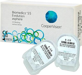 Biomedics 55 Evolution Asphere- (-4.00) Contact Lens pair with kit