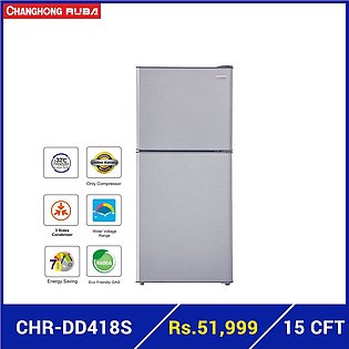 Changhong Ruba - 15 cubic feet - A+ Energy Rating - CHR-DD418S - Refrigerator...