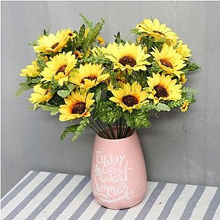Artificial Flowers Sunflowers 10 Heads Flowers Table Home Kitchen Decor