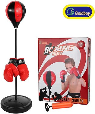 Tech Tools Boxing Ball Set with Punching Bag Boxing Gloves Hand Pump & Adjust...