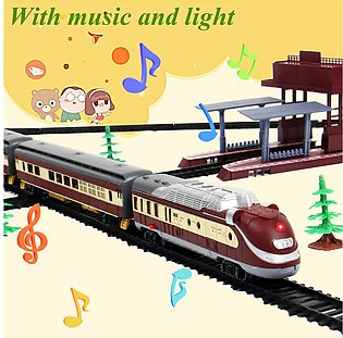 Large Electric Modern Train RAIL Vehicle Kids Toy Set Track Operated Carriages