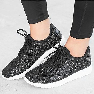 Women Outdoor Sequined Cloth Casual Sport Shoes Runing Breathable Shoes Sneakers