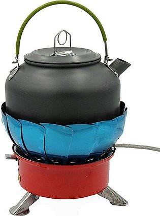 Portable Gas Stove Retracted Windproofe Camping Backpacking Gas Stove For Fla...