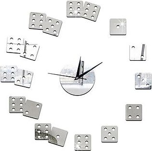 GZ022 Mahjong Sieve Playing Card Wall Clock Bedroom Wall Mirror Wall Clock