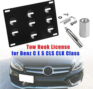 【To Global】Bumper Tow Hook License Plate Mount Bracket for Mercedes Benz C E ...