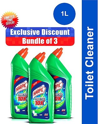 Pack of 3 Harpic Toilet Cleaner 1l Lime