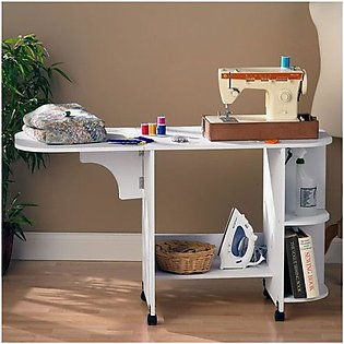 Creative sewing machine table with storage-TWST94