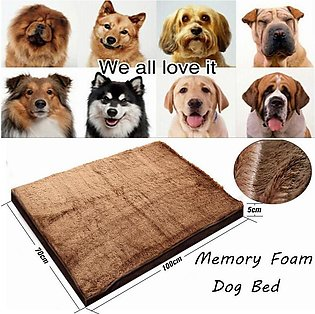 Memory Foam Dog Bed With Removable Cover Bed Pet Brown Extra Large Soft