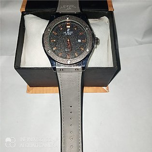 HUBLOT GENEVE Latest Design Classic Leather Strap Watch for Men & Boy