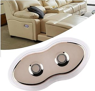 2 Button Hand Control Switch Controller with LED Backlight for Electric Sofa Massage Chair