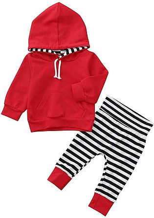 Cute 2PCS Stripe Top +Pants Set Baby