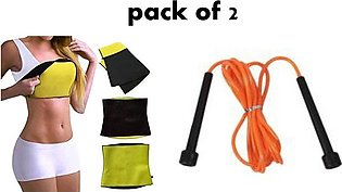 PACK OF 2 JUMPING ROPE AND HOT BELT