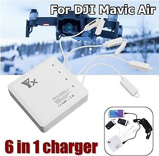 【 Flash Deal】6 In 1 Multi Battery Remote Control Charging Hub USB Charger For DJI Mavic Air
